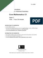 C1 Paper C - Mathematics A Level