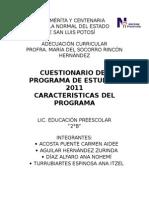 Programa de Estudios (2011)