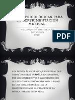 Bases Psicológicas Para La Experimentación Musical