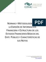 Normas y Metodologia Para La Emision de Informacion Financiera