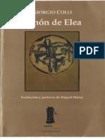 Colli Giorgio - Zenon de Elea-procesado