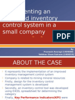 Implementing an Improved Inventory Control System in A
