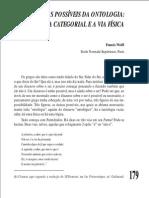 Dois Destinos Possíveis Da Ontologia - A via Categorial e a via Física. Francis Wolff