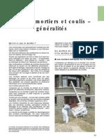 Les Mortiers Et Les Coulis