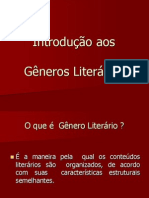 Introdução Aos Gêneros Literários