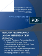 Workshop Rpjm Desa Timbul
