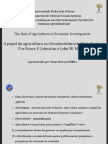 Ppt the ROLE of AGRICULTURE in Economic Development