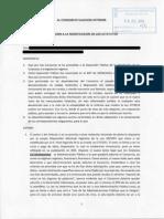 ALEGACIONES a LA MODIFICACION de Los Estatutos Sello Registro Res