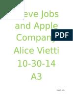 steve jobs and apple company