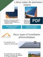 Présentation du solaire photovoltaïque site internet