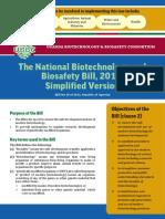 national biotechnology and biosafety bill 2012