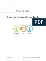 Comcast Xfinity 2012 Law Enforcement Handbook v022112
