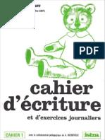 Mareuil, A. & Goupil Mme - Mico Mon Petit Ours, Cahier d'Écriture Et d'Exercices Journaliers, Cahier 1 (Istra, 1968)
