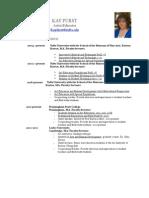kay furst resume 2013