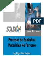 Procesos de Soldadura de Materiales No Ferrosos..Ing EDGAR PEREZ H.