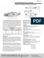 DP Sensor Tech Sheet (Dwyer Series 629)