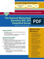 national biotechnology and biosafety bill 2012
