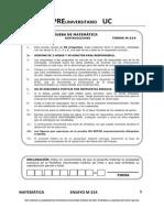 ENSAYO MATEMATICAS PSU CHILE