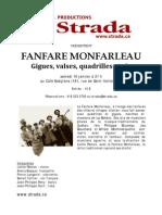 La Fanfare Monfarleau 16 Janvier 2010