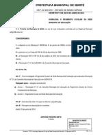 (2014 - Decreto Nº 3728 - Homologa Regimento Escolar Da Rede Municipal de Educação - 03 de Junho)
