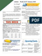 newsletter week of 120115