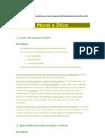 ÉTICA - MORAL E ÉTICA