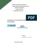Comparación de Las Políticas Salariales en (2) Empresas