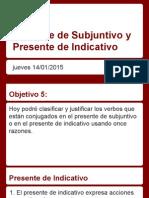 copy of presente de subjuntivo y presente de indicativo