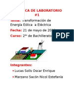 Energía Eólica - Práctica de Laboratorio