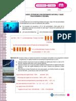 Potencias Con Exponente Natural y Base Fraccionaria o Decimal Respuesta