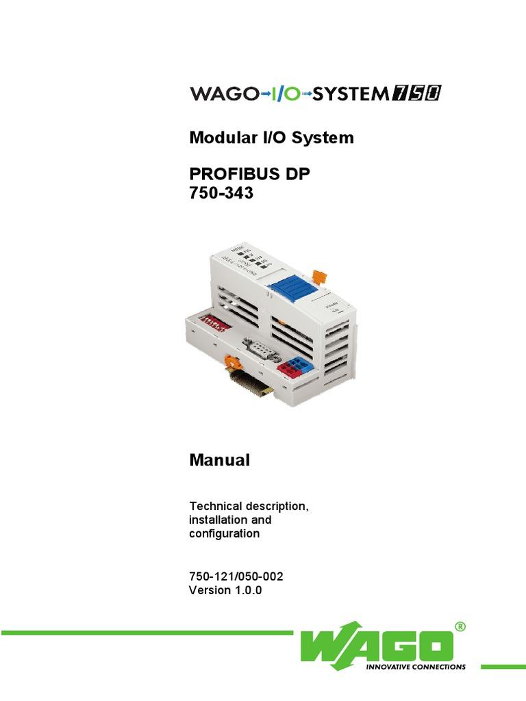 750-333/025-000 fieldbus coupler profibus dp, d-sub wago.