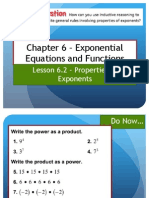 Lesson 6.2 - Properties of Exponents