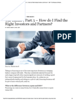 "The Basics _ Part 3 â€"" How do I Find the Right Investors and Partners_ - BoF - The Business of Fashion"