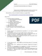 Práctica Autodirigida de Excel 2007 Básico