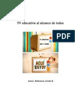 Proyecto Tv Educativa Jardin