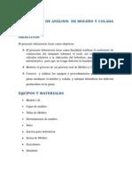 ANALISIS DE MOLDEO Y COLADO