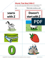 Sort Words That Start With z