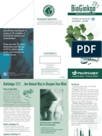 Bioginkgo Trifold Brochure