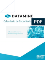 Datamine Calendario Capacitaciones 2015