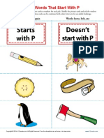 Sort Words That Start With p