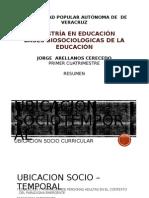 Ubicacion Sociotemporal y Ubicacion curricular