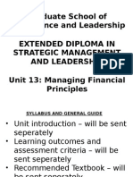 Unit 13 Managing Financial Principles