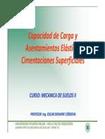 Tema Capacidad de Carga y Asentamientos de Suelos