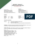 Mat195s Outline 2014