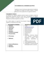 Instrumentos de Medida en La Ingenieria Electrica. Unprg