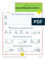 Practice Letters a Z