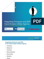 Integrating Primavera-SAP Inland Empire Utilities
