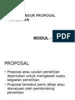 4 Unsur-unsur Proposal Penelitian