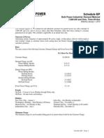 Turlock Electric Rates - Schedule BP
