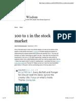 100 to 1 in the Stock Market _ Seeking Wisdom